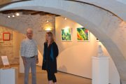 Exposition Reflets et pierre -Joel d\'Esquermes & Layla Rougan - Abbaye de Bouchemaine 2015