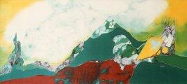 La Montagne Erotique - 1986 (88x200) Soie/silk - collection privé