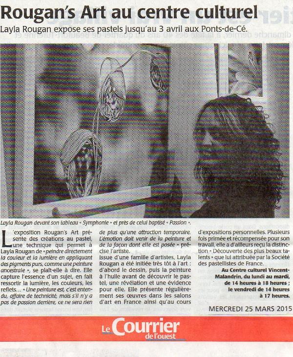 Layla Rougan Centre Culturel 49130 Les Ponts de Cé 2015