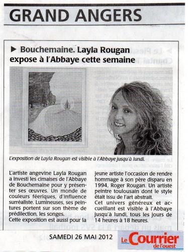 Rougan's Art - Exposition Abbaye de Bouchemaine -Courrier de l'Ouest - Mai 2012