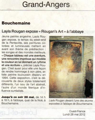 Rougan's Art - Exposition Abbaye de Bouchemaine - Ouest France - Mai 2012