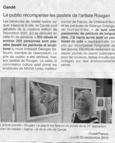 Layla Rougan -Prix du Public - Candé