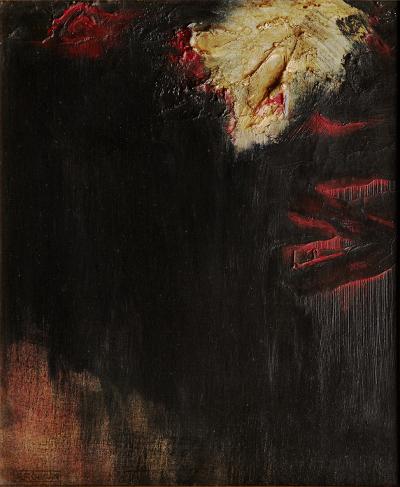 R.Rougan oil on panel - collection Didier Hamel - Jakarta